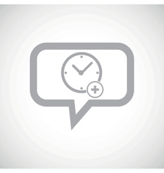 Add time grey message icon vector