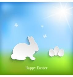 Cute easter rabbit bunny vector