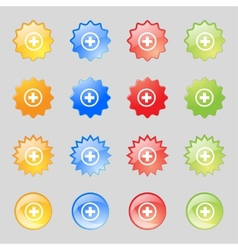 Plus sign icon positive symbol zoom inset vector