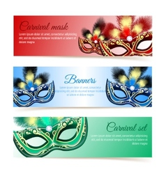 Carnival mask banners vector