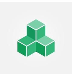 3d printing cube geometric logo vector