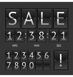 Mechanical timtable sale vector
