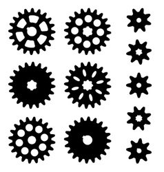 Gears set on a white background vector
