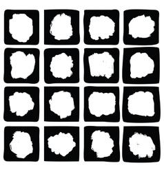 Ink splatters grunge design elements collection vector