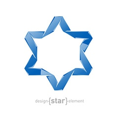 Ice star of david on white background vector