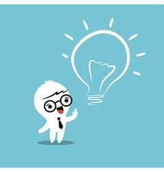 Eureka lightbulb idea cartoon vector