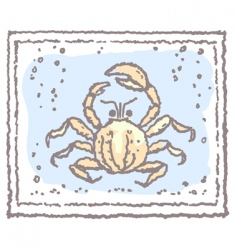 Crab in frame vector