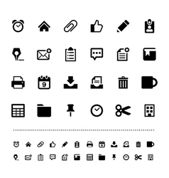 Retina office tools icon set vector