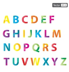 Colourful alphabet set vector