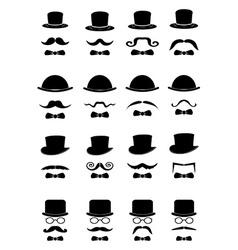 Gentleman icons set vector