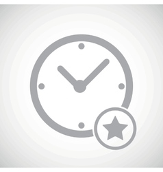 Grey best time icon vector