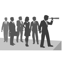Business person telescope vector