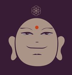 Portrait of the buddha meditative symbol of vector