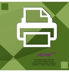 Printer flat modern web design on a flat geometric vector
