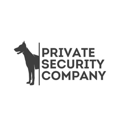 Logo for private security company vector