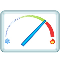 Indicator thermometer vector