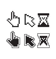 Pixel cursors vector
