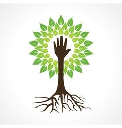 Helping hand make tree vector