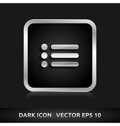 List of contacts icon silver metal vector