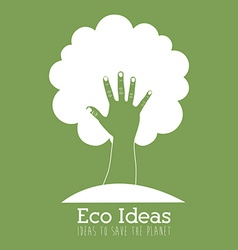 Ecology design over green background vector