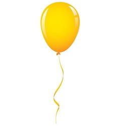 Gold balloon ribbon vector