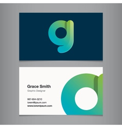 Business card letter g vector