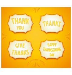 Happy thanksgiving day sticker vector
