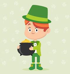 Leprechaun character pose vector