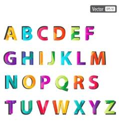 Colourful alphabet set vector