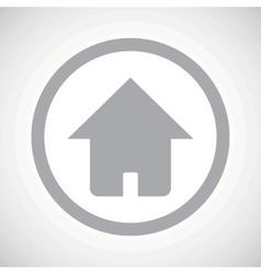 Grey home sign icon vector
