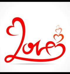 Creative typography of love design vector
