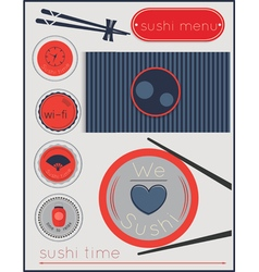 Sushi time vector