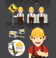 Characters worker set vector