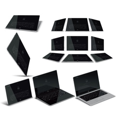 Tablet pc multiple views vector