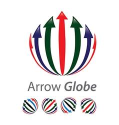 Arrow globe vector