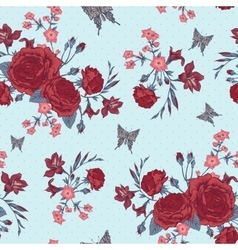 Beautiful seamless background with victorian roses vector