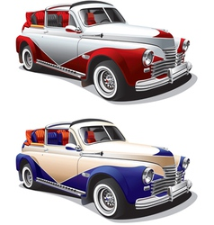 Vintage hot rod car vector