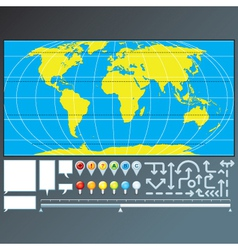Infographics global map design vector