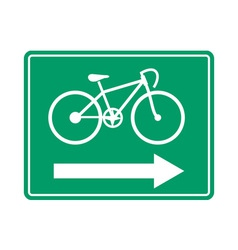 Bicycle road sign symbol vector