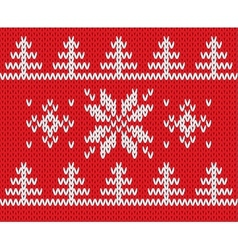 Knitted holiday pattern vector