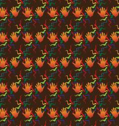 Hand seamless background vector