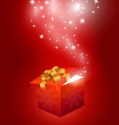 Red gift box abstract background vector