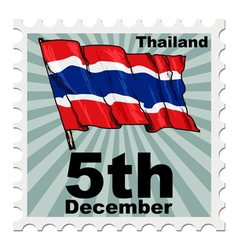 Post stamp of national day of thailand vector