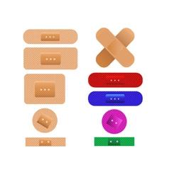 Medical plaster bandages vector