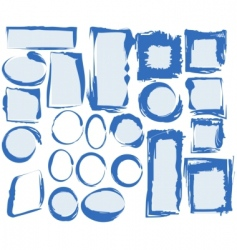 Grunge frames collection vector