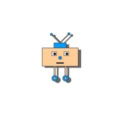 Sad little robot vector