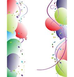 Party balloon frame vector