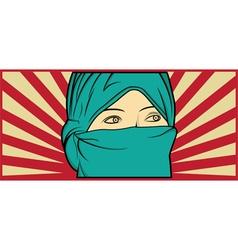 Muslim woman vector