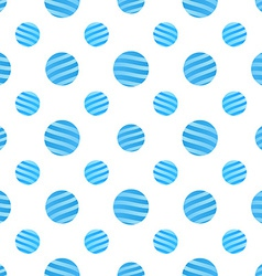 Seamless blue dots pattern on white background vector