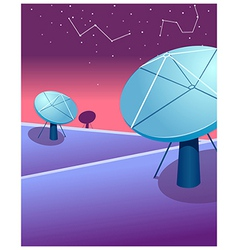 Satellite dishes astrology sign vector
